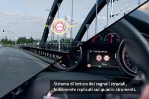 ADAS. Sistema di lettura dei segnali stradali tramite telecamere.