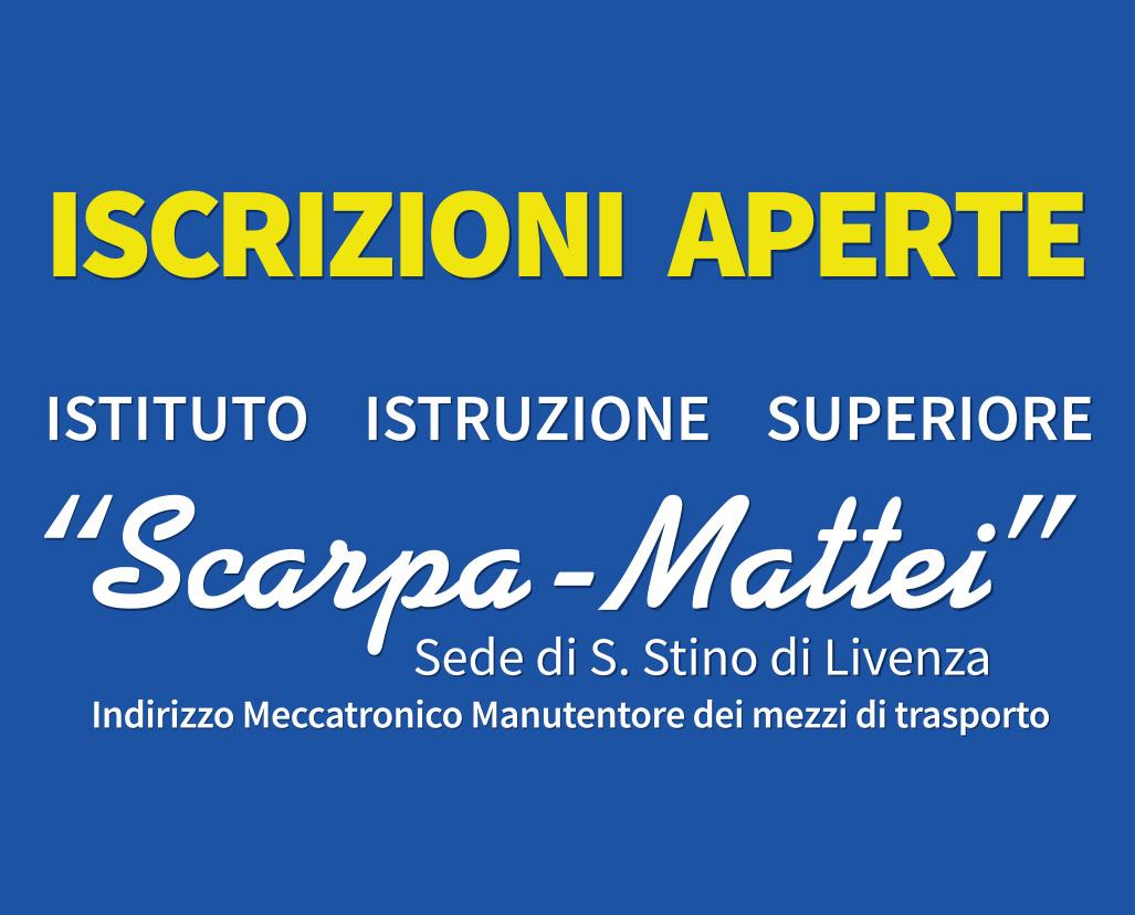 Iscrizioni I.I.S. Scarpa-Mattei